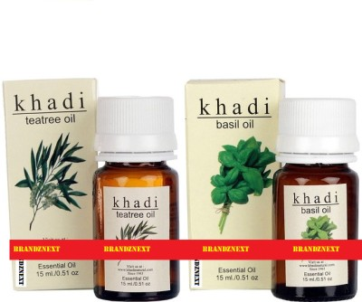 khadi Natural Essential Oil Combo - 1 (Tea Tree & Basil)