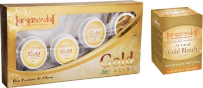 Aryanveda Combo Of Gold Facial Kit & Aryanveda Gold Bleech