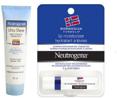 Neutrogena Ultra Shear and Lip Moisturier Combo