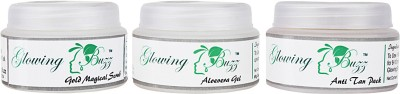 Glowing Buzz GB_556633 - Combo of Gold Magical scrub, Aloevera gel and Anti Tan pack