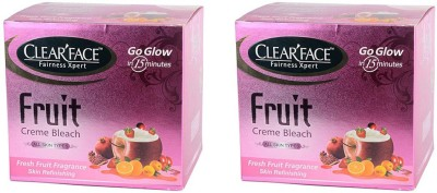 Clear Face Fruit Cream Bleach (Pack of 2 )