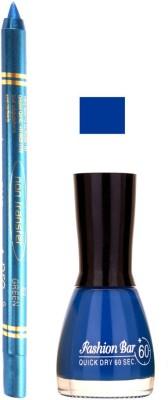 Fashion Bar Blue Nail Polish With Pro Non Transfer Turquoise Blue Kajal 60