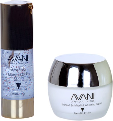 Avani Mineral Enriched Moisturizing Cream And Timeless Advanced Microcapsule Serum