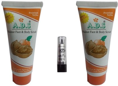 ADS Walnut face & Body Scrub (Pack of 2) with kajal