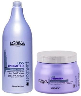 L,Oreal Paris Liss unlimited keratin Oil complex Shampoo and Mask