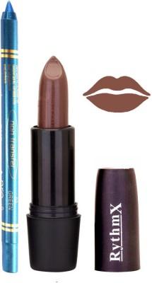 Rythmx Brown Lipstick And Pro Non Transfer Blue Kajal 28103