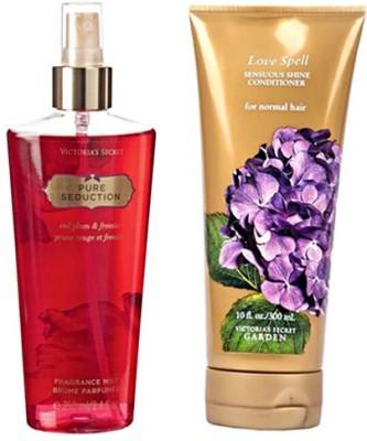 Victoria's Secret Pure Seduction Mist 250ml And Love Spell Conditioner 300ml Combo