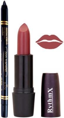 Rythmx Redish Brown Lipstick And Pro Non Transfer Black Kajal 38105
