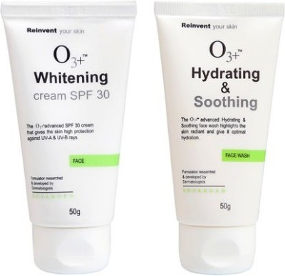 O3+ Hydrating & Soothing Face Wash & Whitening - SPF 30 Combo no-2