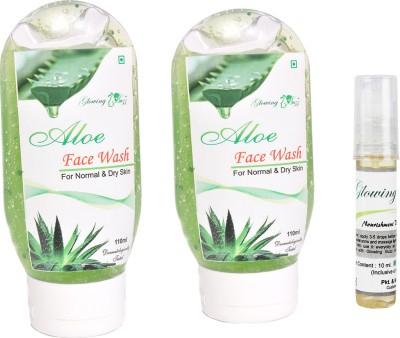 Glowing Buzz Combo of 2 Aloe Face Wash And 1 Herbal Nourishment Vitamin E Oil