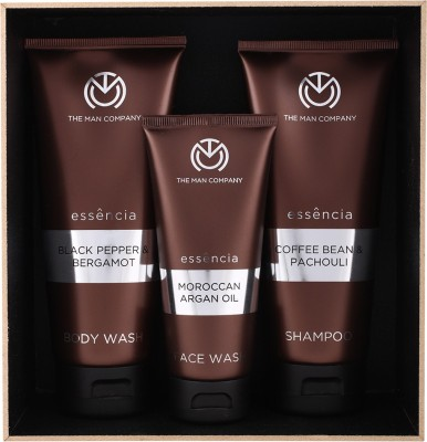 The Man Company Mighty Trio- Set of Face Wash, Body Wash and Shampoo