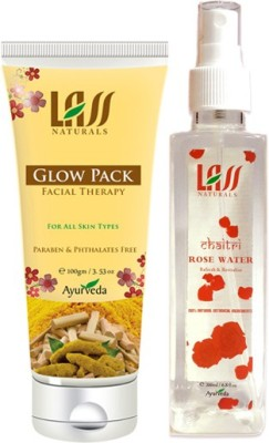 Lass Naturals Combos Of Glow Pack Facial Therapy And Tonner
