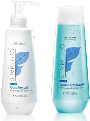 Oriflame Sweden Optimals White Foaming Gel& Balancing Toner(Set of)