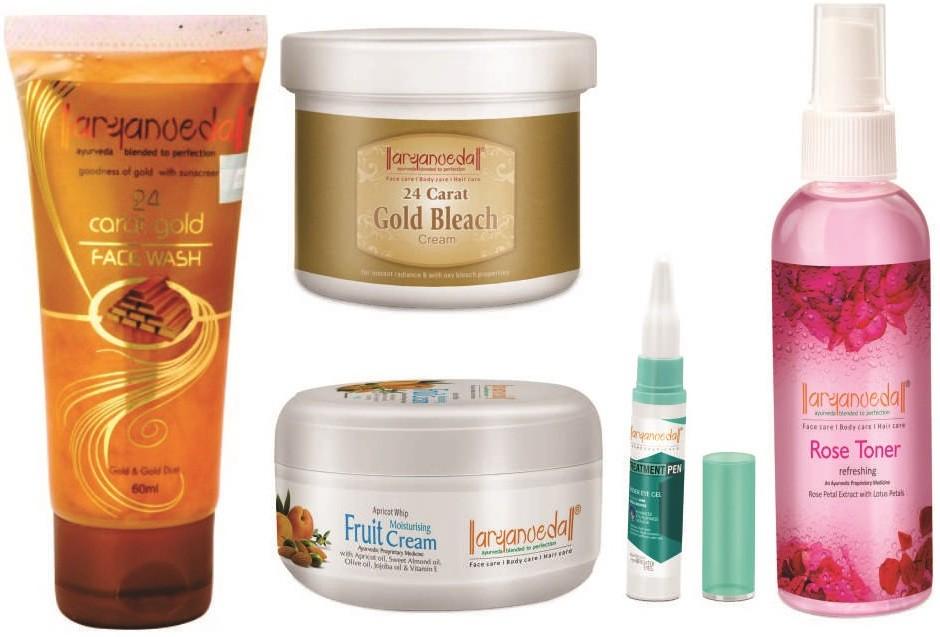Aryanveda Herbals Gold like Glow kit(Set of)
