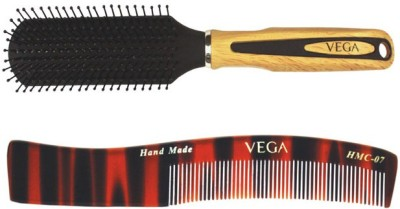 Vega Flat Brush E2-Fb With Womenen,S Dressing Comb Hmc-07