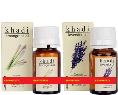 khadi Natural Essential Oil Combo - 11 (Lemongrass & Lavender)