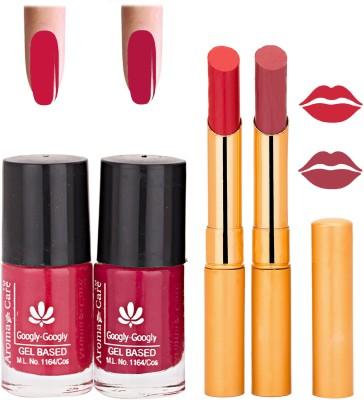 Aroma Care Nail Polish Red Lipstick Combo 041