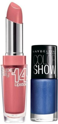 Maybelline Super Stay 14 Hr Lipstick and Color Show Combo 1