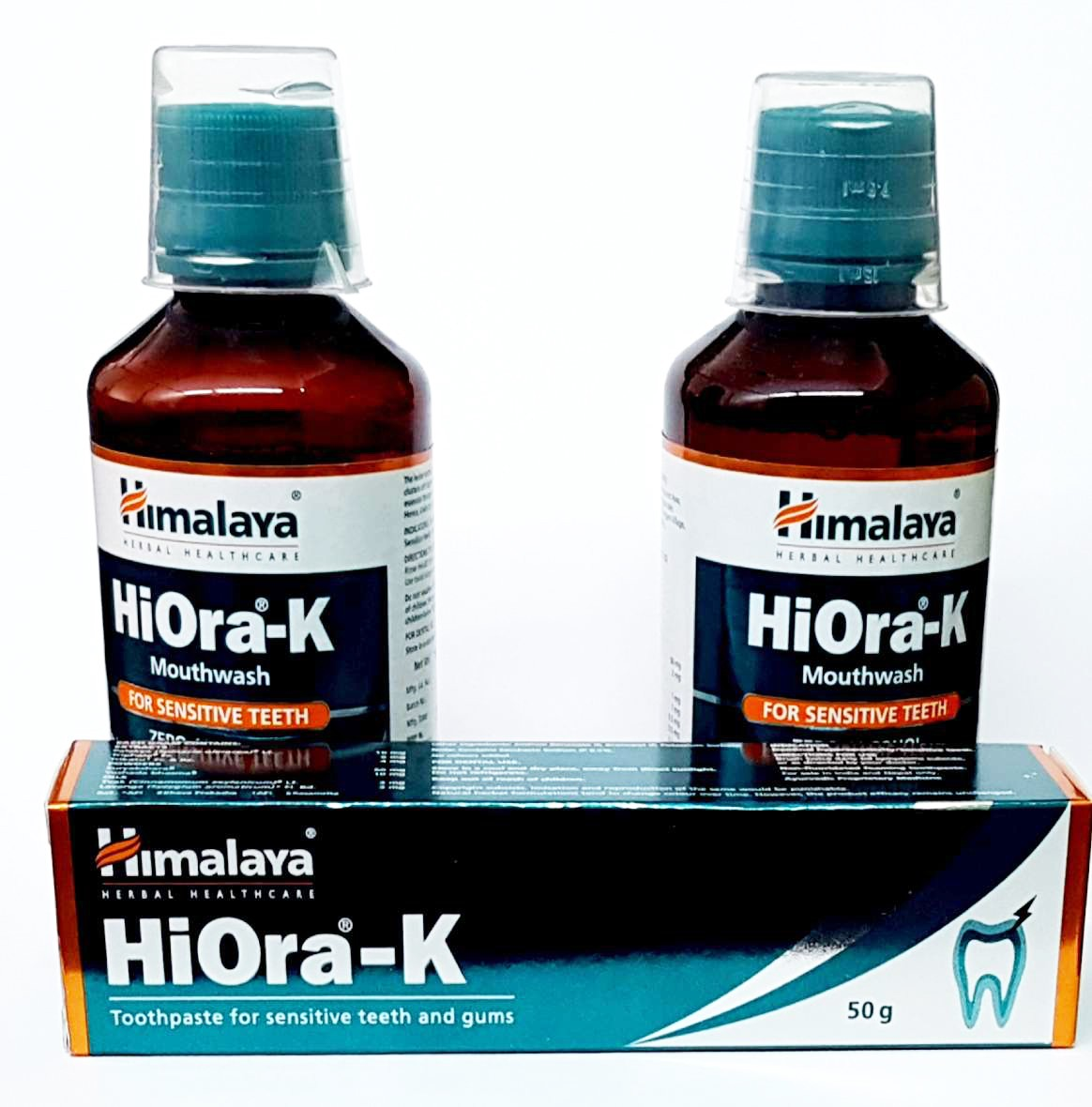 Himalaya Hiora mouthwash and paste for sensitive teeth(1 month pack)(Set of)