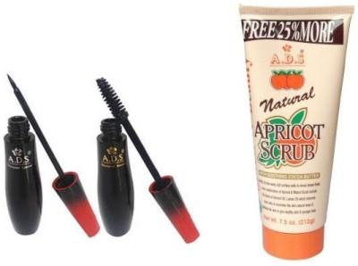 ADS ADS Waterproof Glamour Slender Eyeliner And Mascara / Scrub