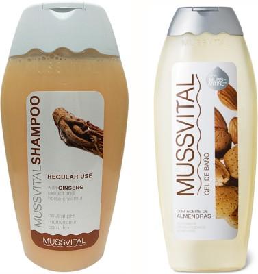 Mussvital Frequent(Regular) Shampoo & Almond Shower Gel
