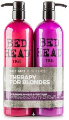TIGI BED HEAD DUMB BLONDE SHAMPOO & CONDITIONER 750ml+750ml