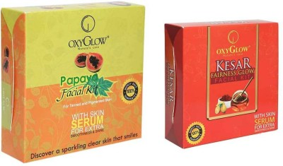 Oxyglow Papaya Facial Kit & Kesar Fairness Glow Facial Kit