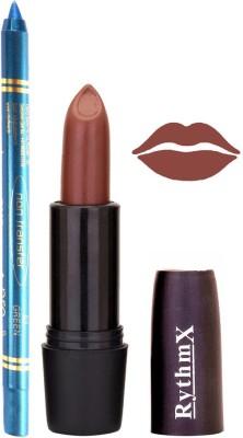 Rythmx Choclate Brown Mauve Lipstick And Pro Non Transfer Blue Kajal 28104
