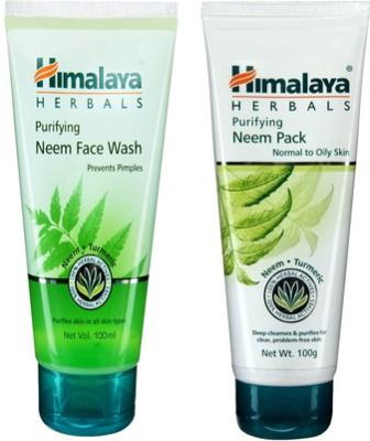 Himalaya Purifying Neem Face Wash and Neem Pack