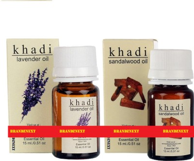 khadi Natural Essential Oil Combo - 6 (Lavender & Sandal)