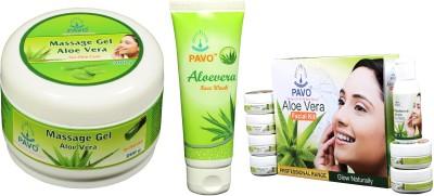 Pavo Aloe Vera Facial Kit & Face Wash & Massage Gel
