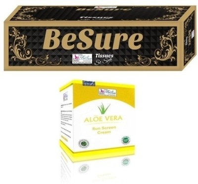 Besure Face Tissue with Sunscreen Cream