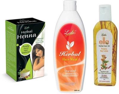 lalas Herbal Hair Wash Shampoo,Ella Herbal HairOil and Herbal Henna