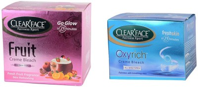 Clear Face Fruit Cream Bleach & Oxyrich Cream Bleach