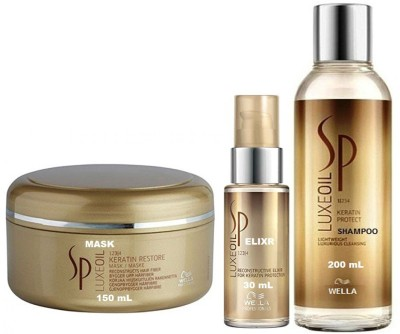 Wella Professionals Sp Luxeoil Elixr serum with Shampoo and Restore Mask