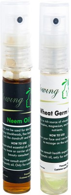 Glowing Buzz Combo of 1 Neem Tree Essential Oil and 1 WheatGerm Essential Oil
