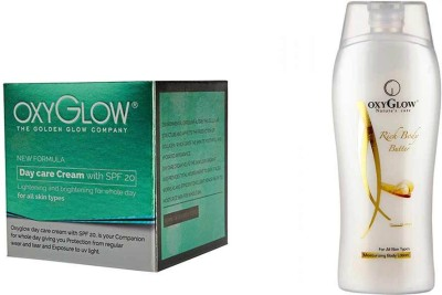 Oxyglow Golden Glow Radiance Day Care Cream With Spf- 20 & Rich Body Butter 200ml
