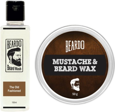 Beardo The Old Fashioned Beard Wash (100ml) & Wax (50g) Combo