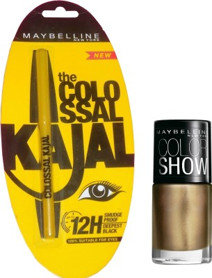 Maybelline Colossal Kajal Plus Color Show Nail Lacqure