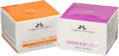 Organic Therapie Sun Protection Combo- (Mattifying Day Creme 50g, Under Eye Crème 50g)