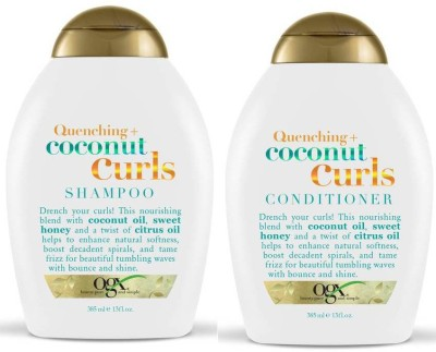 OGX Quenching Plus Coconut Curls Combo