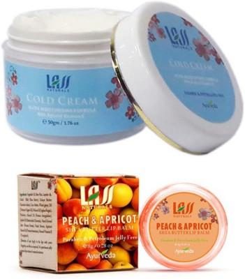 Lass Naturals Peach And Apricot Lip Balm With Cold Cream