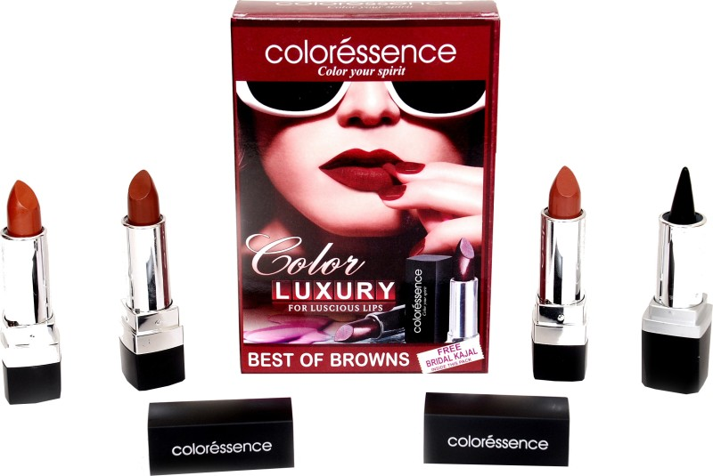 Coloressence Luxury for Luscious Lips - Best of Browns(Set of 3)