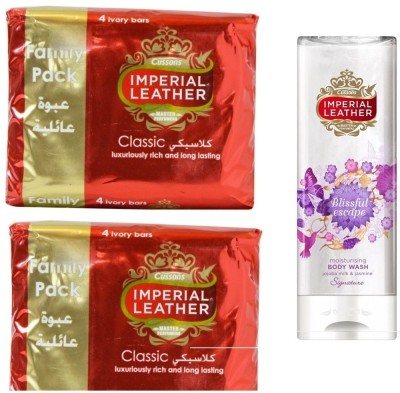Imperial Leather Soap Classic ( Pack of 8 ) 175gm*8 with Blissful escape moisturising Body wash