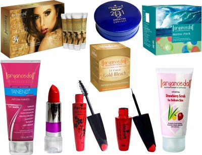 Aryanveda Facial Kit With 8 Skin Care Product Combo
