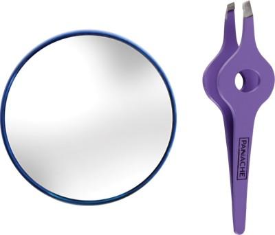 Panache Magnifying Mirror 5x & Wide Grip Tweezer(Set of 2)