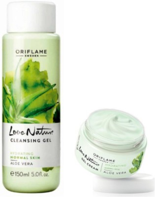 Oriflame Sweden Love Nature Aloe Vera Cleansing Gel and Cream