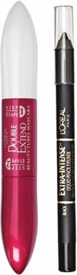 L,Oreal Paris Extra Inense Eyeliner & Double Extend Blackest Black Mascara