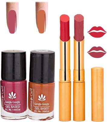 Aroma Care Nail Polish Red Lipstick Combo 035