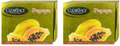 Clear Face Papaya Facial Kit( Pack Of 2 )